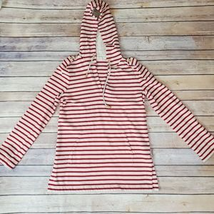 Tory Burch Red Striped Hoodie/Sweater SP